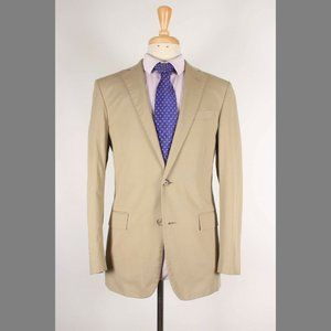 Brooks Brothers 38R Beige Cotton Sport Coat B925